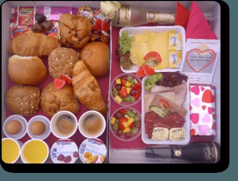 Valentijnsontbijt laten bezorgen